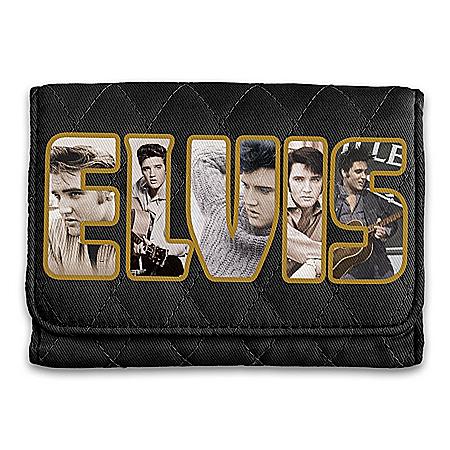 Elvis Presley Tribute Quilted RFID Blocking Tri-Fold Wallet
