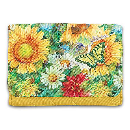 Lena Liu Sunflower Splendor RFID Blocking Tri-Fold Wallet
