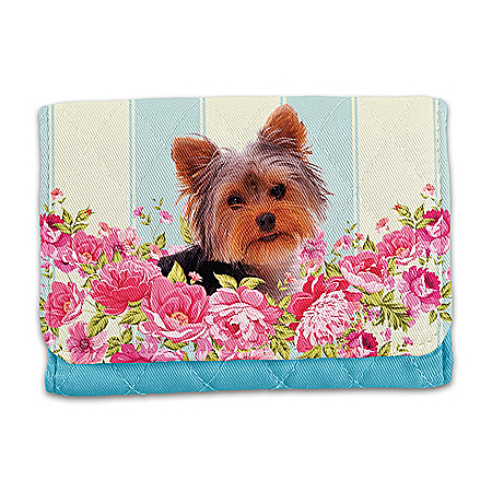 Playful Pup Yorkie RFID Blocking Tri-Fold Wallet