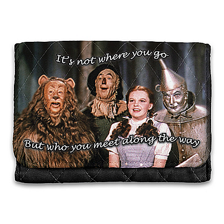 THE WIZARD OF OZ Quilted Tri-Fold Wallet With RFID Blocking Technology