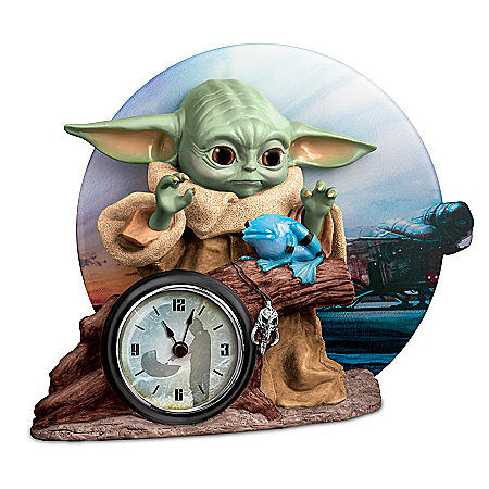 STAR WARS The Mandalorian The Child Sculptural Desk Clock