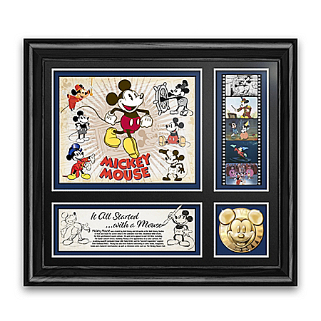 Mickey Mouse Wall Decor With 22K Gold-Plated Medallion