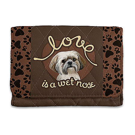 Shih Tzu RFID Blocking Tri-Fold Wallet