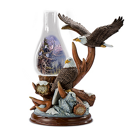 Ted Blaylock Nature's Wonders Sculpted Eagle Lantern Lamp