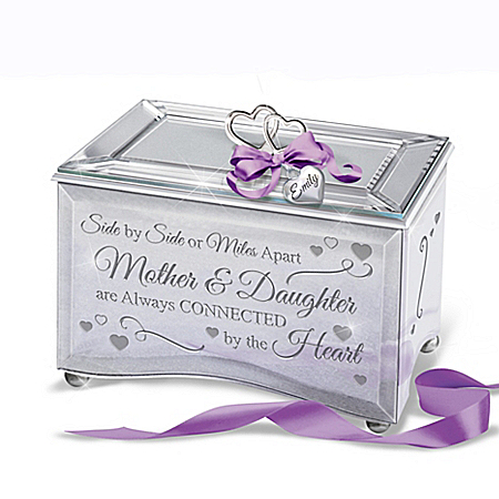 Mother & Daughter Always Connected Personalized Music Box