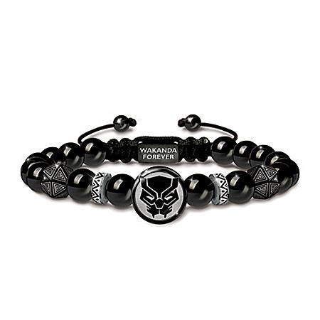 MARVEL AVENGERS Wakanda Forever Black Onyx Bracelet