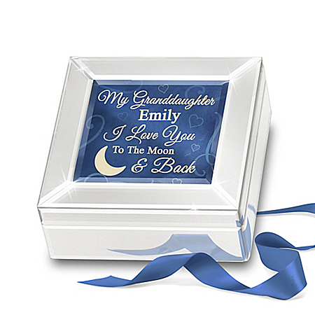 Glass Music Box Personalized For Your Granddaughter