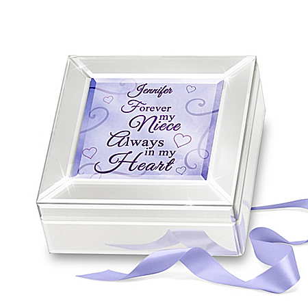 Forever My Niece Personalized Mirrored Glass Music Box