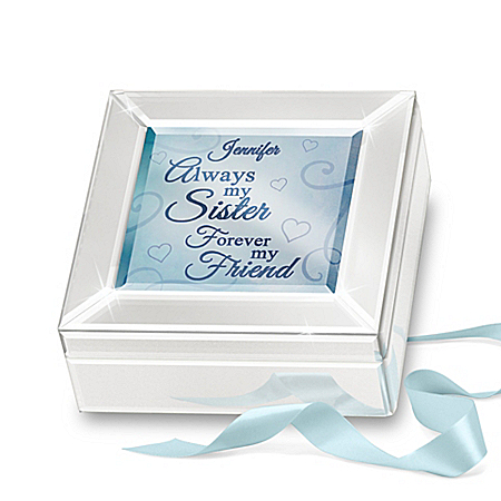 Always My Sister Personalized Mirrored Glass Music Box