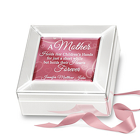 Mother Music Box Personalized With The Names Of Her Children