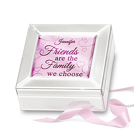 Personalized Mirrored Glass Music Box For Friends