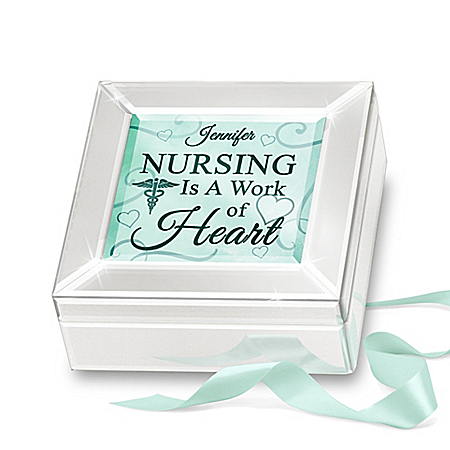 Personalized Mirrored Glass Music Box For Nurses
