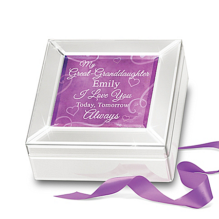 Personalized Mirrored Music Box For Great Granddaughter