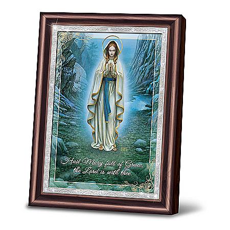 Hector Garrido Our Lady Of Lourdes Virgin Mary Framed Art