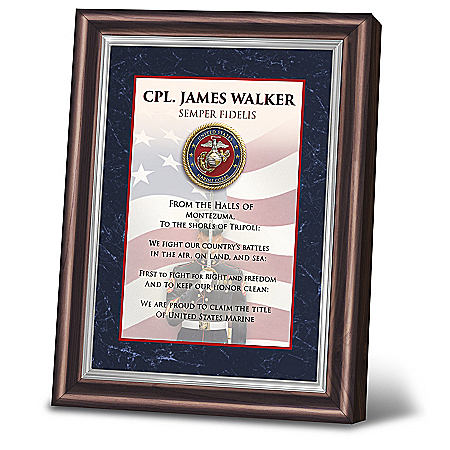 James Griffin Semper Fidelis Personalized Marine Frame