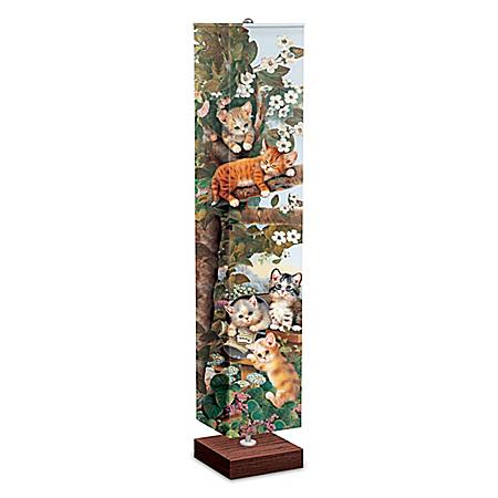 Jürgen Scholz Floor Lamp With Kitten Art On Four Sides