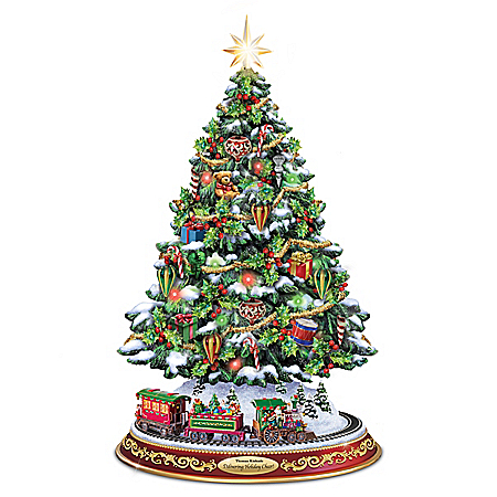 Thomas Kinkade Delivering Holiday Cheer Christmas Tree
