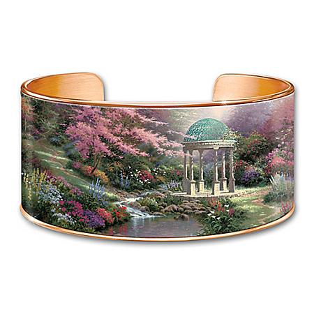 Thomas Kinkade Serenity's Garden Copper Cuff Bracelet