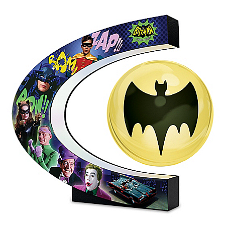 BATMAN Classic TV Series Levitating Bat-Signal Lights Up