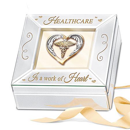 Mirrored Music Box Honoring Health Care Professionals