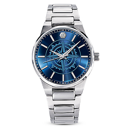 Guiding Faith Diamond Watch For Son With A Compass Design