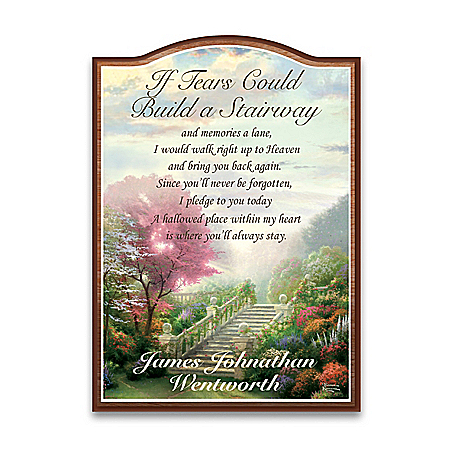 Thomas Kinkade Personalized Memorial Wall Plaque With Poem