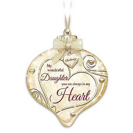 Illuminated Ornament With Personalized Charm For Daughter