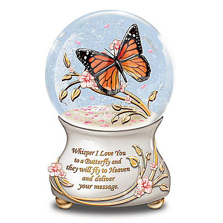 Whispers From Heaven Remembrance Musical Glitter Globe
