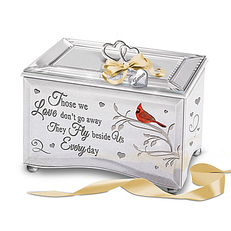 Always Beside Me Personalized Music Box With Cardinal Art