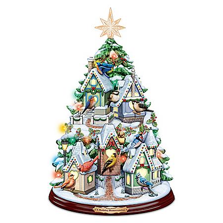 Thomas Kinkade A Holiday Homecoming Christmas Tree