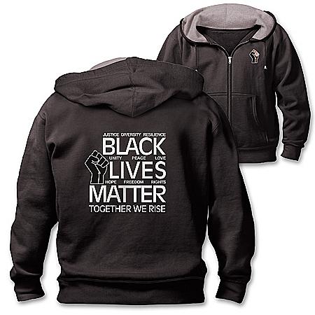 Black Lives Matter Cotton-Blend Full-Zip Men's Hoodie