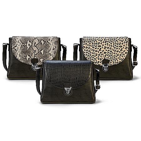 Uniquely You Handbag With 3 Interchangeable Flap Designs