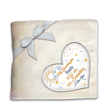 Plush Throw Blanket Personalized With A Granddaughter's Name