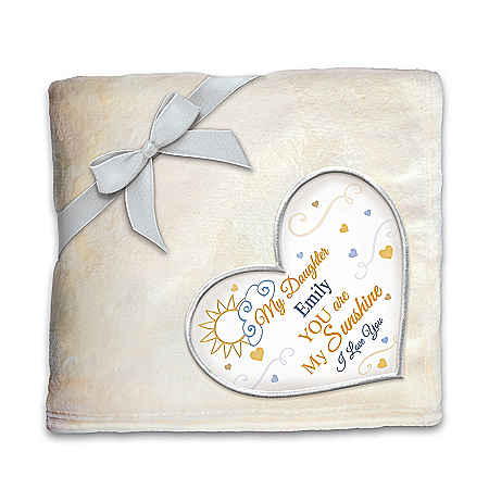 Daughter, You Are My Sunshine Personalized Plush Blanket – Personalized Jewelry