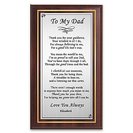 Proud To Call You Dad Personalized Wooden Plaque Wall Decor