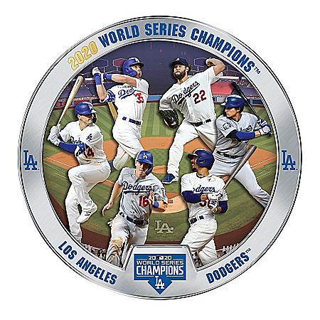 Los Angeles Dodgers 2020 World Series Commemorative Plate