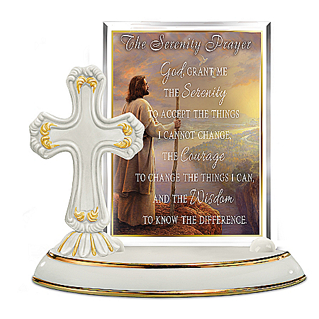 Greg Olsen Serenity Prayer Heirloom Porcelain Sculpture