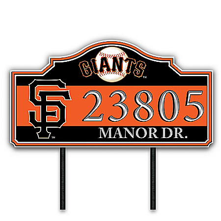 San Francisco Giants Personalized Outdoor Address Sign