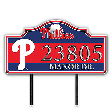 Philadelphia Phillies Personalized Outdoor Address Sign