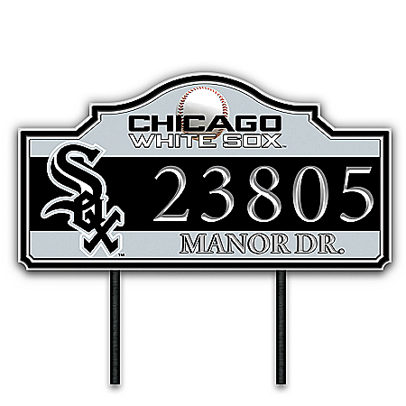 Chicago White Sox Personalized Outdoor Address Sign