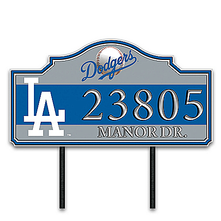 Los Angeles Dodgers Personalized Outdoor Address Sign