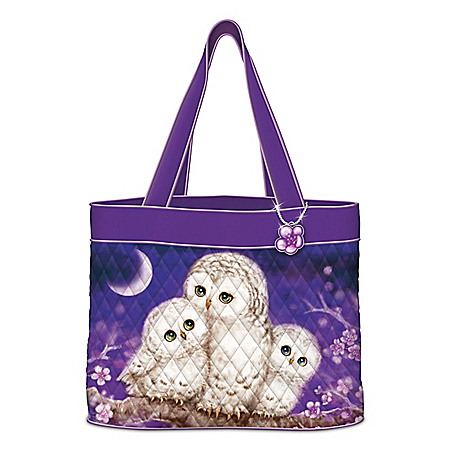 Kayomi Harai Owl Always Love You Quilted Tote Bag