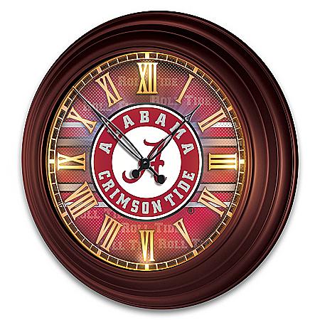Crimson Tide Illuminated Atomic Wall Clock