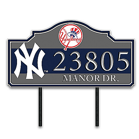 MLB Personalized Address Sign Featuring Team Logo & Colors