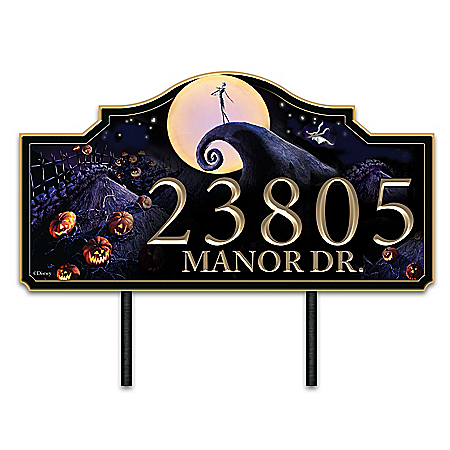 The Nightmare Before Christmas Personalized Address Sign