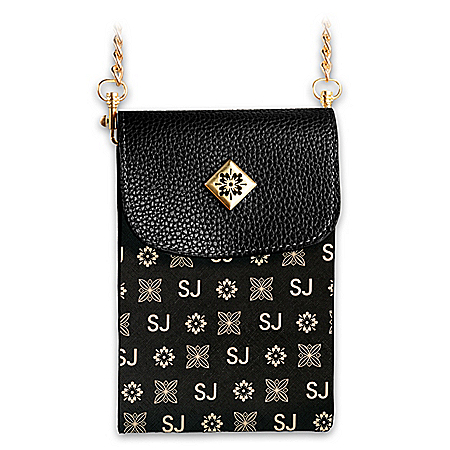 Black Crossbody Bag Personalized With Initials