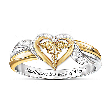 Diamonesk Simulated Diamond Ring For Healthcare Workers