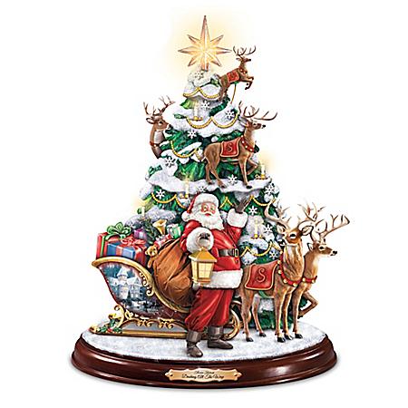 Thomas Kinkade Dashing All The Way Christmas Tree
