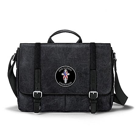 One Nation Under God Canvas Messenger Bag