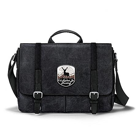 I'd Rather Be Hunting Men's Canvas Messenger Bag